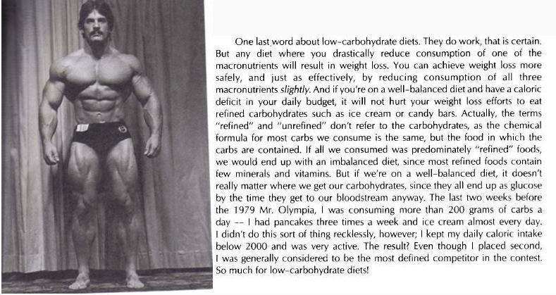 mentzer calorie philosophy