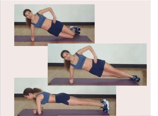 female plank